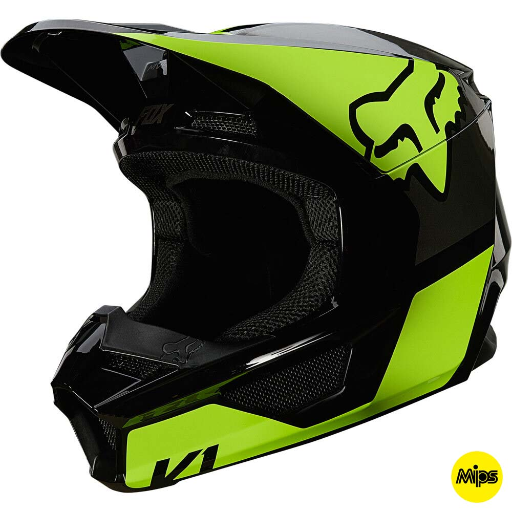 Fox 2021 V1 Revn Fluorescent Yellow (MIPS) шлем внедорожный