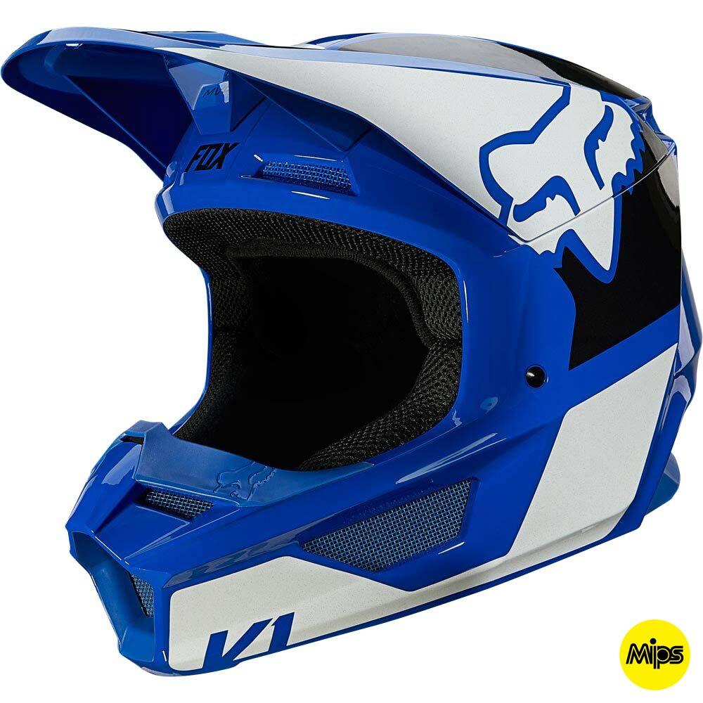 Fox V1 Revn Blue шлем внедорожный