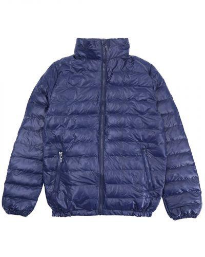 Однотонная стеганая куртка для мальчика 10-14 лет Bonito темно-синяя