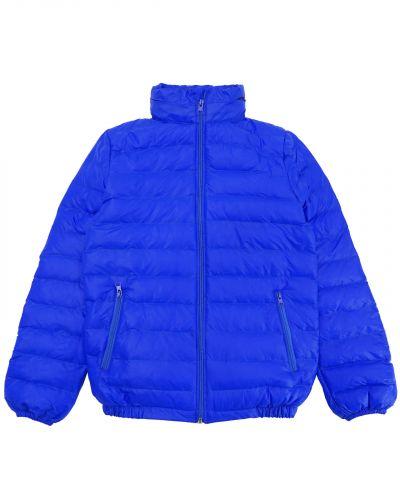 Однотонная стеганая куртка для мальчика 10-14 лет Bonito синяя