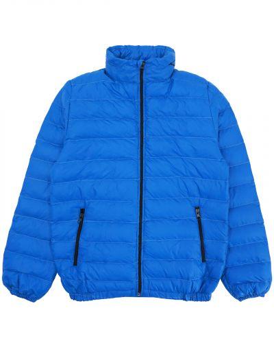 Однотонная стеганая куртка для мальчика 10-14 лет Bonito индиго