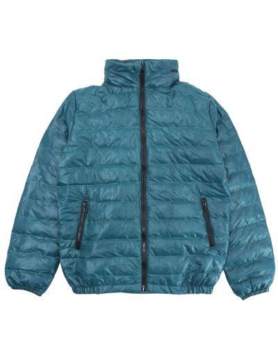 Однотонная стеганая куртка для мальчика 10-14 лет Bonito изумрудная