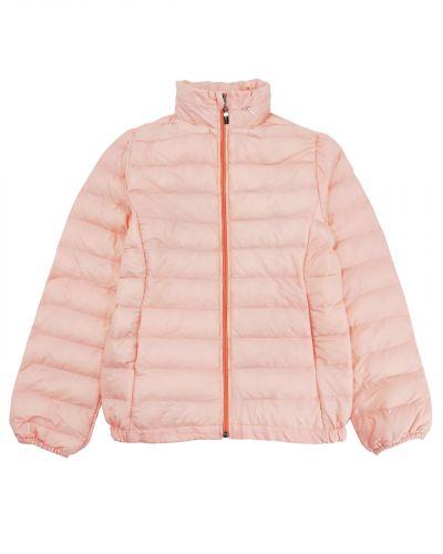 Однотонная стеганая куртка для девочки 9-13 лет Bonito светло-розовая