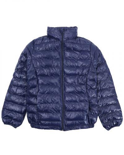 Однотонная стеганая куртка для девочки 9-13 лет Bonito темно-синяя