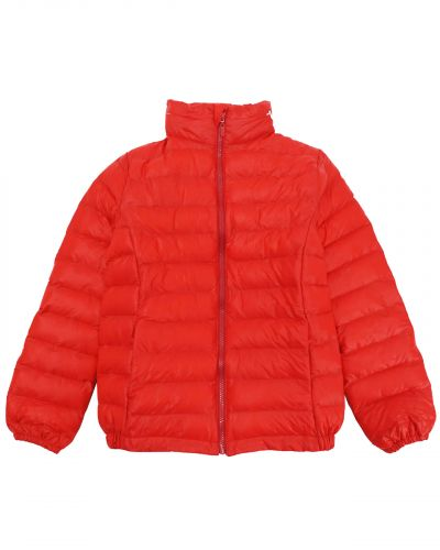 Однотонная стеганая куртка для девочки 9-13 лет Bonito красная