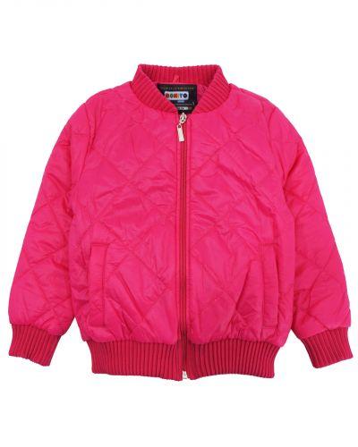 Однотонная стеганая куртка для девочки 3-7 лет Bonito малиновая