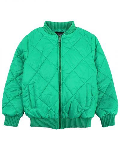 Однотонная стеганая куртка для мальчика 3-7 лет Bonito зеленая