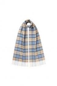 клетчатый кашемировый тёплый шарф (100% драгоценный кашемир) , тартан клана Кэмпбелл из Аргайла CLASSIC TARTAN CASHMERE SCARF, CAMPBELL OF ARGYLL WEATHERED , плотность 7