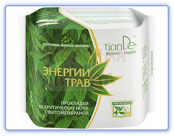 TianDe Прокладки на критические ночи с фитомембраной Энергии трав