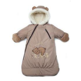 Зимний меховой конверт для новорожденных на овчине Дрёма