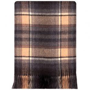 Легкий шотландский плед, расцветка  тартан деревушки Таллинессл TULLYNESSLE MODERN TARTAN LAMBSWOOL BLANKET, плотность 6.