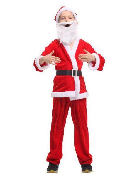 Детский костюм Санта Клауса для мальчиков, 6-9 лет.
