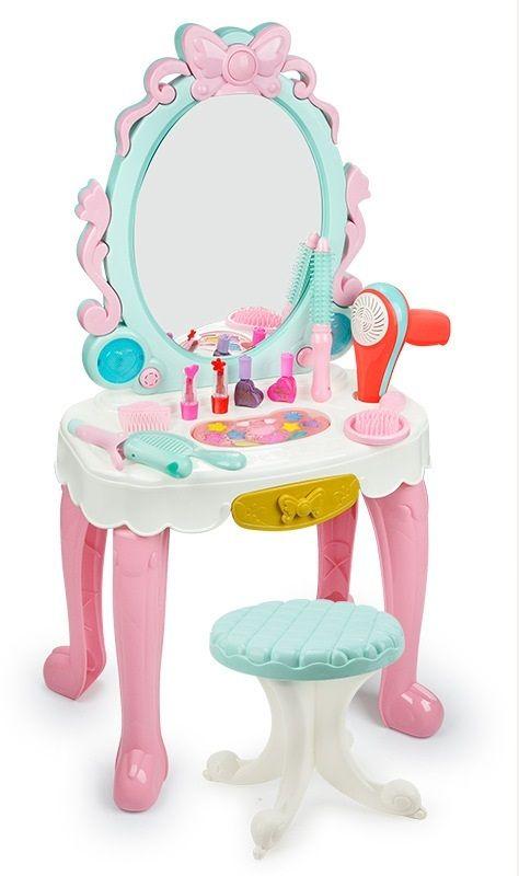 7938  Трюмо детское туалетный столик для девочки со стульчиком и косметикой