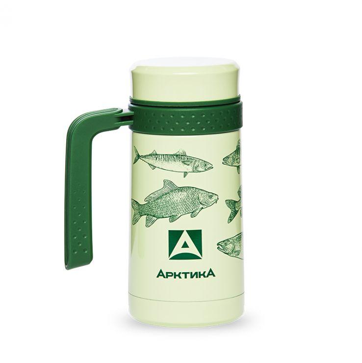 Термокружка АРКТИКА 412-500 зеленые рыбы