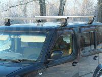 Багажник на крышу Nissan Cube, Атлант, аэродинамические дуги