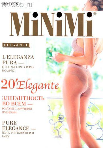 Колготки Minimi 20den elegante с ажурными трусиками