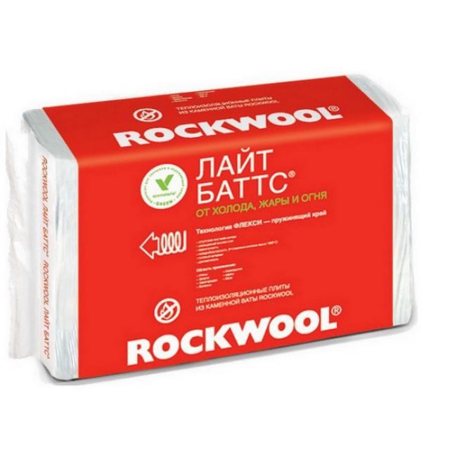 Каменная вата Rockwool Лайт Баттс 1000х600х50мм (уп/10шт, 6м2, 0,3м3)