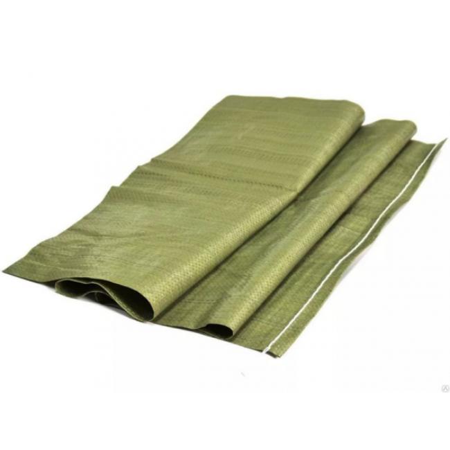 Мешок для мусора плетеный зеленый