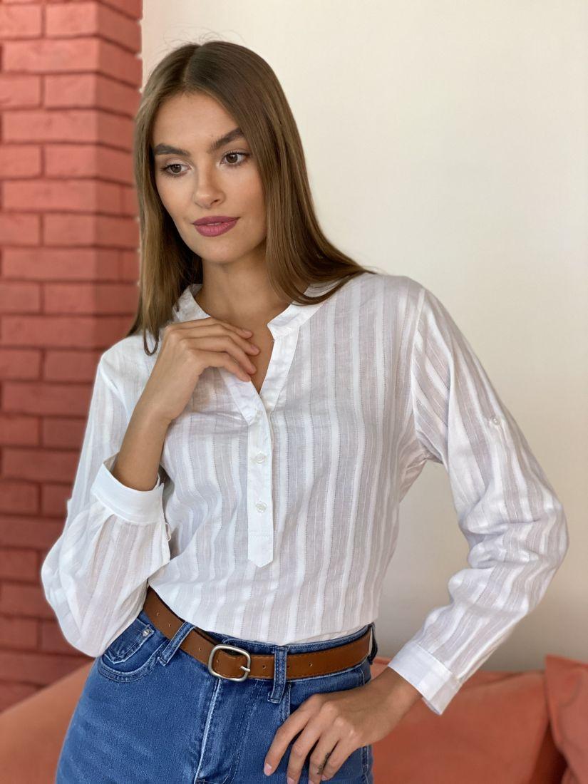 s2694 Хлопковая блуза в полоску