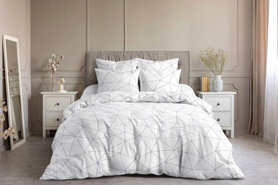 Поплин 1.5 спальный [белый] Грань постельное белье