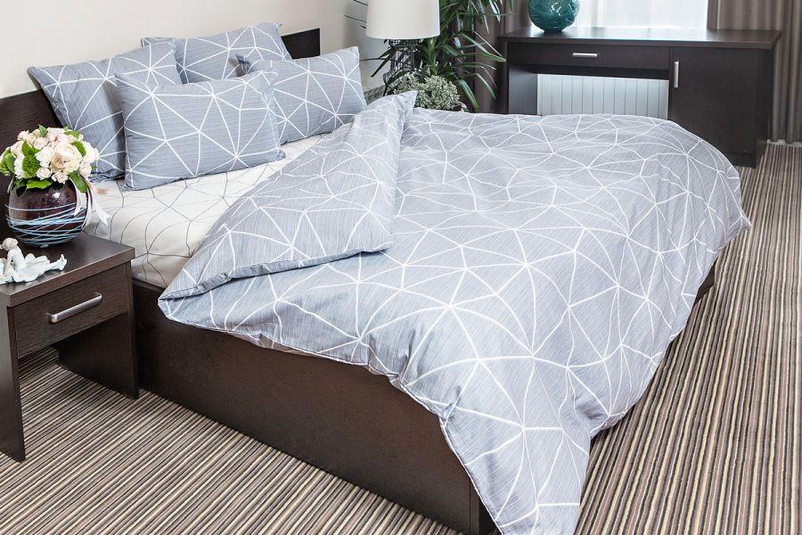 Поплин 1.5 спальный [серый] Грань постельное белье