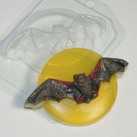 """Форма пластиковая для мыла и шоколада """"Летучая мышь на луне"""", арт. 1468"""