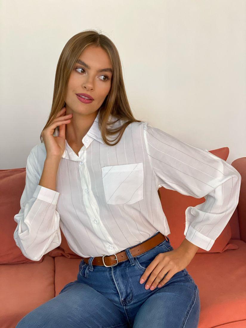 s2708 Рубашка белая из тончайшей вискозы