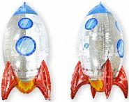 Шар (32''/81 см) Фигура, 3D Ракета, 1 шт.