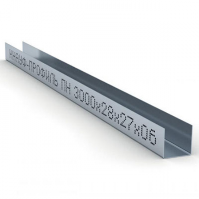 Профиль направляющий ПН 28х27х0,6мм L=3м Knauf