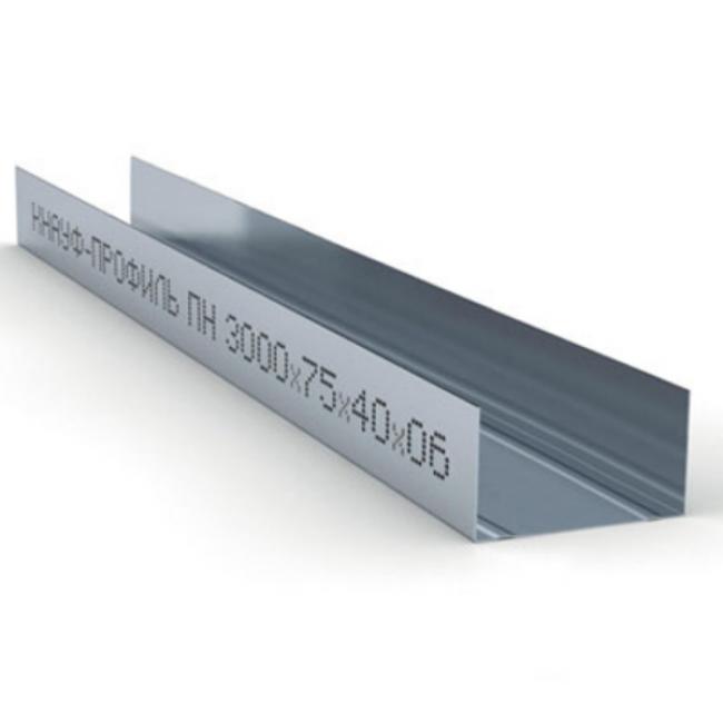 Профиль направляющий ПН 75х40х0,6мм L=3м Knauf