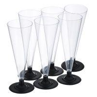 Пластиковые бокалы для шампанского 180 мл 6 шт_1