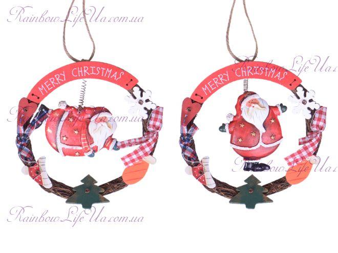 """Подвеска - украшение новогодняя """"Санта Merry Christmas"""""""
