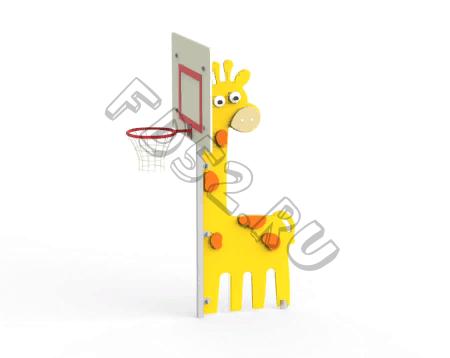 """Стойка с баскетбольным щитом """"Жираф"""""""