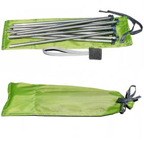 Колышки для палатки штормовые (алюминиевый сплав 9,0 х 300 мм, комплект 10 шт)