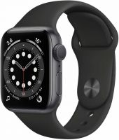 Apple Watch Series 6, 40 мм, чёрный