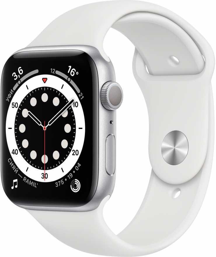 Apple Watch Series 6, 44 мм, антрацитовый / чёрный