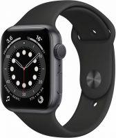 Apple Watch Series 6, 44 мм, чёрный