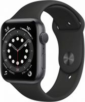 Apple Watch Series 6, 44 мм, чёрный