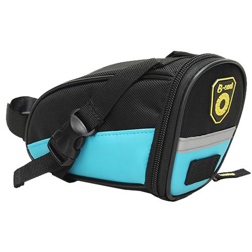 Велосипедная седельная сумка B-Soul. Цвет: голубой.