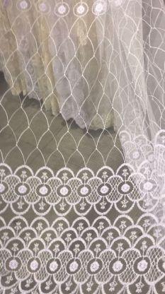 Тюль вышивка на сетке Турция 54