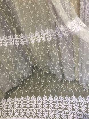 Тюль вышивка на сетке Турция 65
