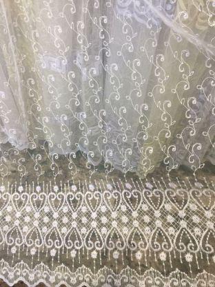 Тюль вышивка на сетке Турция 79