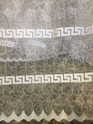 Тюль вышивка на сетке Турция 83