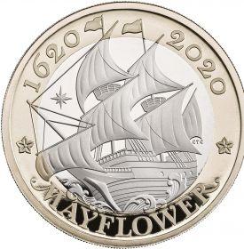 "400 лет со дня плавания ""Мэйфлауэра"" 2 фунта Великобритания 2020 Буклет. на заказ"