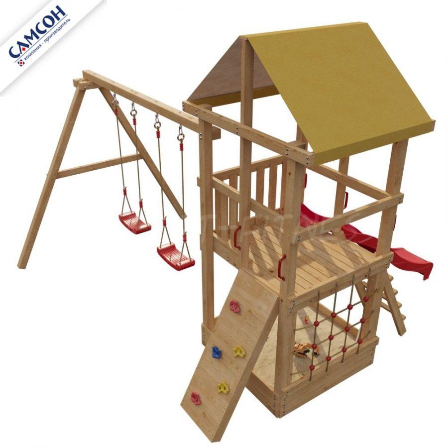 Детская деревянная площадка Самсон 4-й Элемент