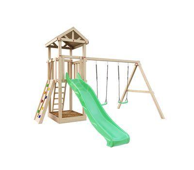 Детская деревянная площадка IgraGrad Панда Фани + скалодром