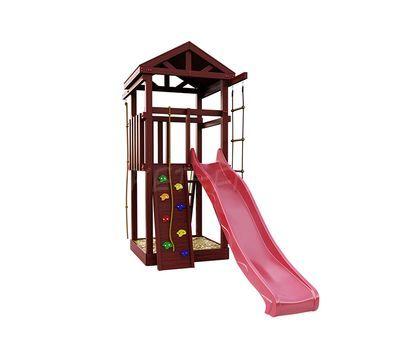 Деревянная детская площадка IgraGrad Панда Фани Tower скалодром