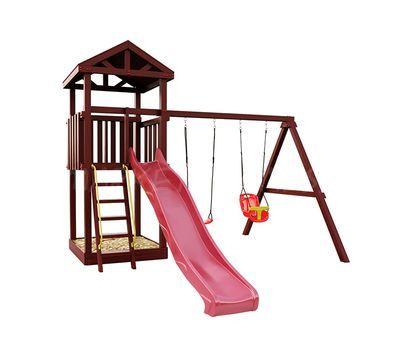 Деревянная детская площадка IgraGrad Панда Фани Tower с качельным модулем