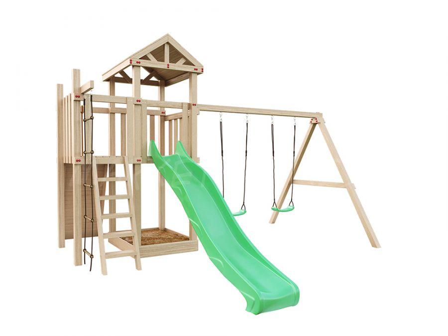 Детская деревянная площадка IgraGrad Большая Панда Фани + скалодром