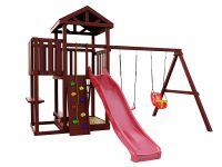 Деревянная детская площадка IgraGrad Панда Фани с балконом
